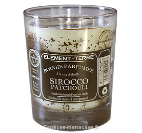 bougie element sirroco patchouli
