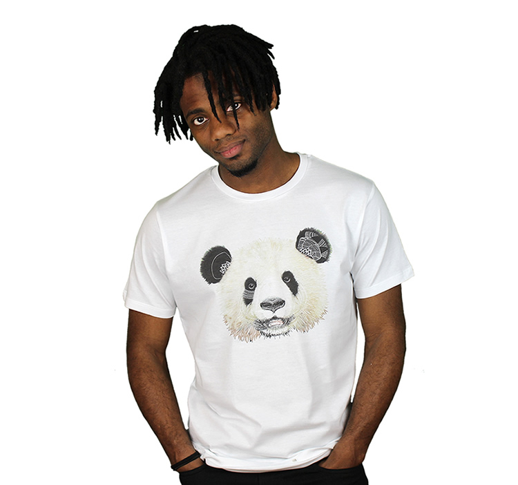 t-shirt coton organique panda
